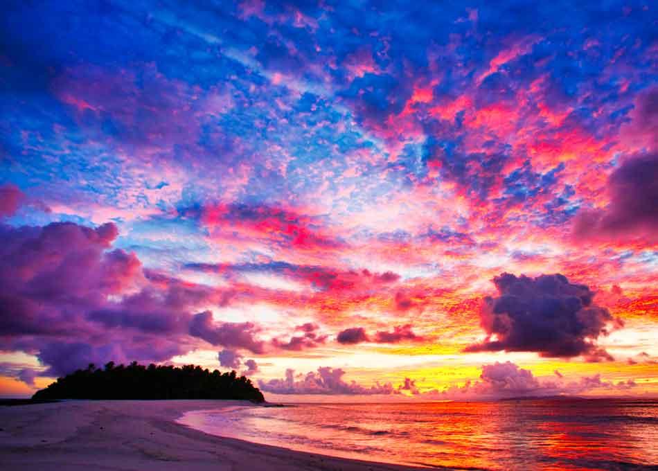 Paradise Beach at the Fiji Islands