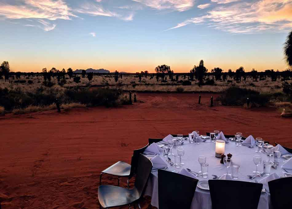 The Sound of Silence Meal, in the Northern Territory